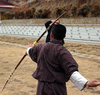 Бутан, стрельба из лука