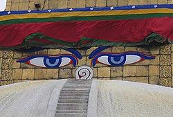 Непал, глаза Будды