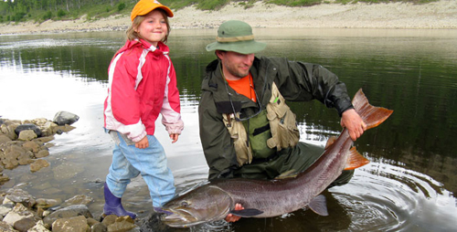 Рыбалка тайменя в Эвенкии