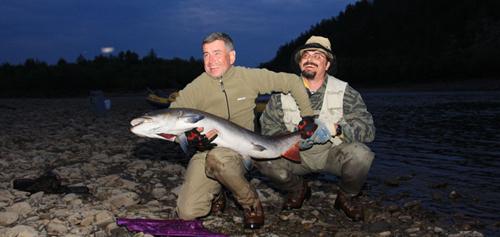 Рыбалка тайменя в Южной Якутии